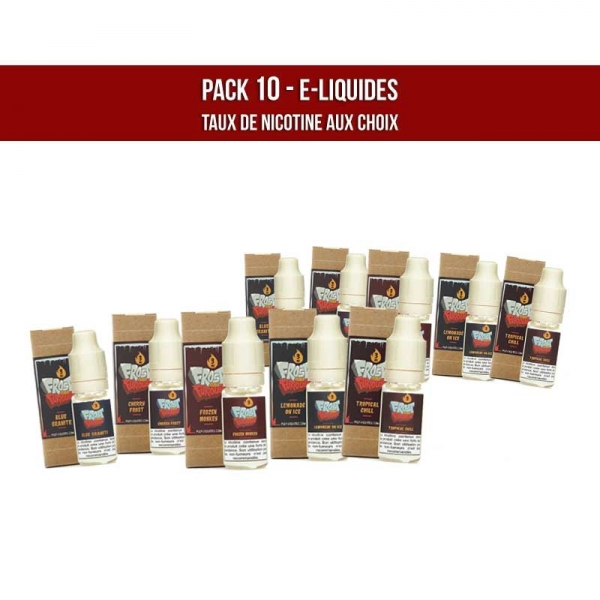 sans nicotine pack 10 frost