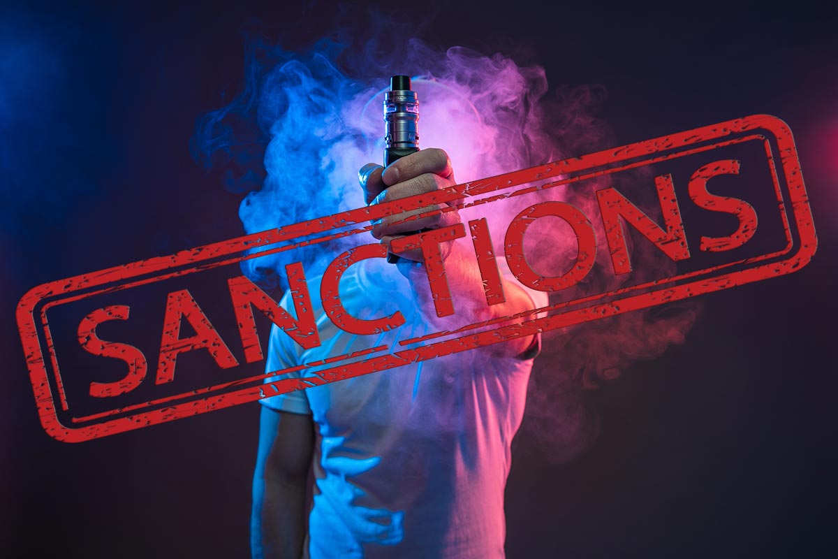 e kiosque Cigarette électronique sanctions